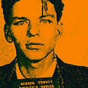 Mugshot Frank Sinatra V1 Poster by Wingsdomain Art and Photography