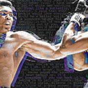 Muhammad Ali Poster by Tony Rubino