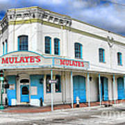 Mulates New Orleans Poster by Olivier Le Queinec