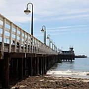 Municipal Wharf At The Santa Cruz Beach Boardwalk California 5d23768 Poster by Wingsdomain Art and Photography