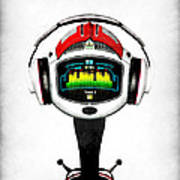 Music Roboto Poster by Frederico Borges