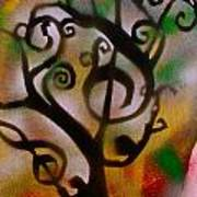Musical Tree Golden Poster by Tony B Conscious
