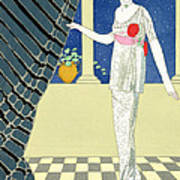 My Guests Have Not Arrived Poster by Georges Barbier