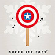 My Superhero Ice Pop - Captain America Poster by Chungkong Art