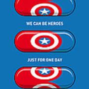 My Superhero Pills - Captain America Poster by Chungkong Art