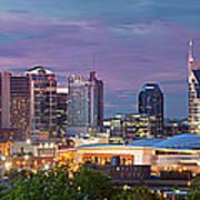 Nashville Skyline Poster by Brian Jannsen