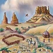 Navajo Sheepherder - Age 11 Poster by Dawn Senior-Trask