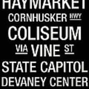 Nebraska College Town Wall Art Poster by Replay Photos