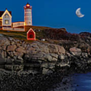 Neddick Lighthouse Poster by Susan Candelario