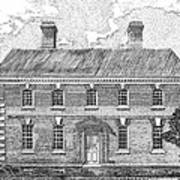 Nelson House In Yorktown Virginia II Of IIi Poster by Stephany Elsworth