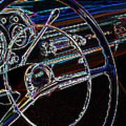 Neon 1957 Chevy Dash Poster by Steve McKinzie