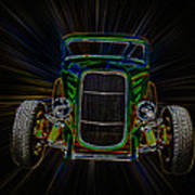 Neon Deuce Coupe Poster by Steve McKinzie