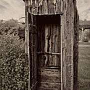 Nevada City Ghost Town Outhouse - Montana Poster by Daniel Hagerman