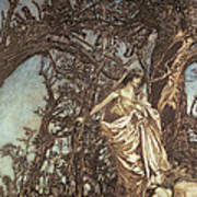 Never So Weary Never So Woeful Illustration To A Midsummer Night S Dream Poster by Arthur Rackham