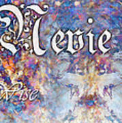 Nevie - Wise Poster by Christopher Gaston
