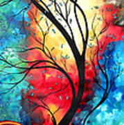 New Beginnings Original Art By Madart Poster by Megan Duncanson
