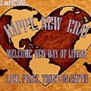 New Era On Earth A New Begining Poster by Georgeta  Blanaru