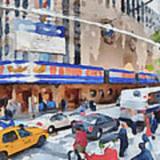 New York 4 Poster by Yury Malkov