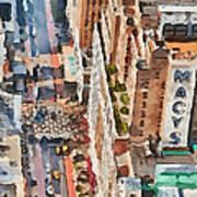 New York 5 Poster by Yury Malkov