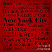 New York City Poster by Denyse and Laura Design Studio