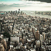 New York From Above - Vintage Poster by Hannes Cmarits