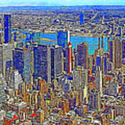 New York Skyline 20130430 Poster by Wingsdomain Art and Photography
