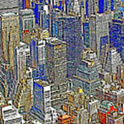 New York Skyline 20130430v5-square Poster by Wingsdomain Art and Photography