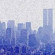 New York Skyline Poster by Jon Neidert
