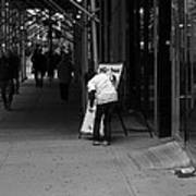 New York Street Photography 26 Poster by Frank Romeo