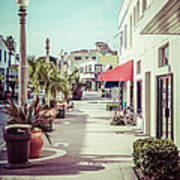 Newport Beach Main Street Balboa Peninsula Picture Poster by Paul Velgos