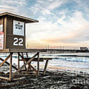 Newport Beach Pier And Lifeguard Tower 22 Photo Poster by Paul Velgos
