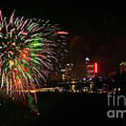 Niagara Falls Fireworks Poster by Charline Xia