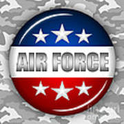 Nice Air Force Shield 2 Poster by Pamela Johnson