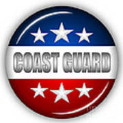 Nice Coast Guard Shield Poster by Pamela Johnson