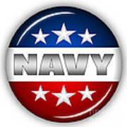 Nice Navy Shield Poster by Pamela Johnson