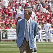Nick Saban Head Football Coach Of Alabama Poster by Mountain Dreams