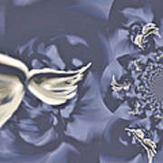 Nights In White Satin Poster by Absinthe Art By Michelle LeAnn Scott