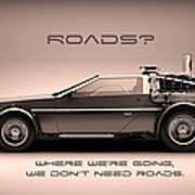 No Roads Poster by Patrick Charbonneau