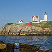 Nubble In The Day 16x20 Poster by Geoffrey Bolte