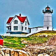 Nubble Lighthouse Cape Neddick Maine 2 Poster by Glenn Gordon