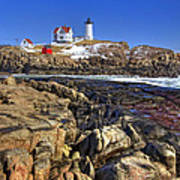 Nubble Lighthouse Poster by Joann Vitali