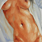 Nude In Shirt II Poster by John Silver