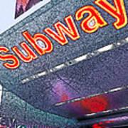 Nyc Subway Poster by Linda  Parker