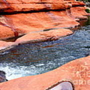 Oak Creek At Slide Rock Poster by Carol Groenen