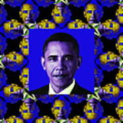 Obama Abstract Window 20130202m118 Poster by Wingsdomain Art and Photography