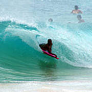 Obama's Boyhood Bodysurfing Beach Poster by Kevin Smith