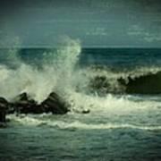 Ocean Impact - Jersey Shore Poster by Angie Tirado