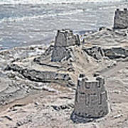 Ocean Sandcastles Poster by Betsy C Knapp