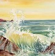 Ocean Waves II Poster by Summer Celeste