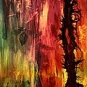 October Abstract Poster by Patricia Motley